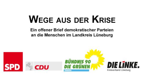 Logos der demokratischen Parteien im LK Lüneburg