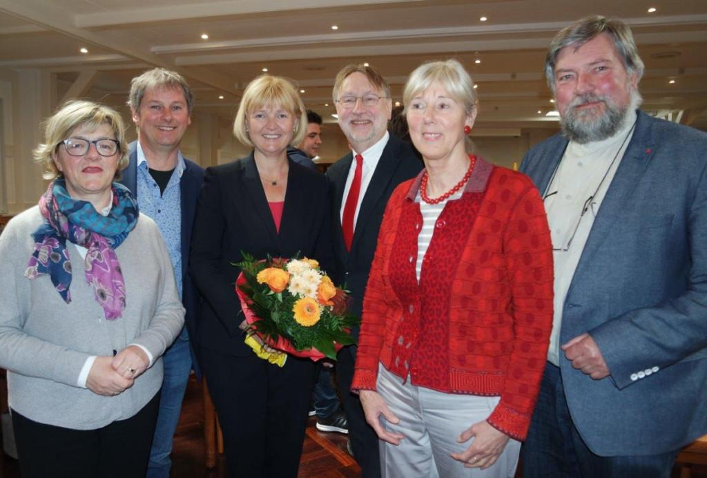 Mitglieder des Vorstandes mit Europaabgeordneten